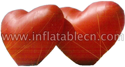 Inflatable advertising red heart for sale