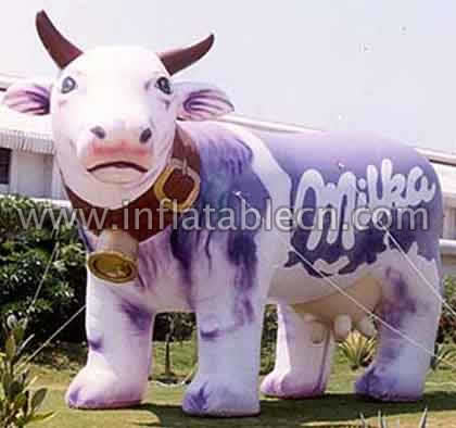 Inflatable Cartoon Cow on sale