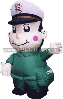 Friendly Postman Inflatable Moving Cartoon