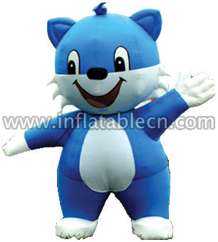 Blue Cat Inflatable Moving Cartoon