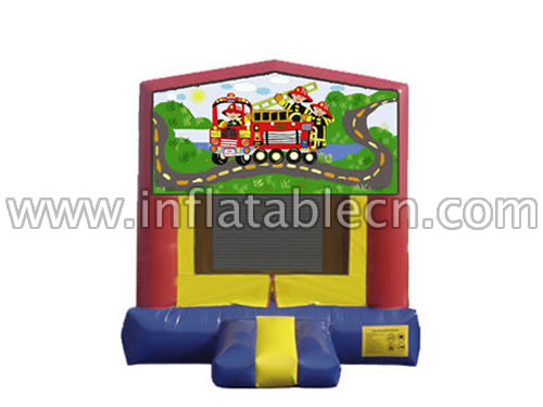 Inflatable Fire Truck Basic Jumper