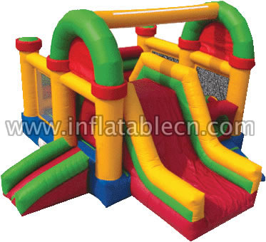 Inflatable bouncer games