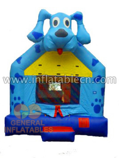 Inflatable Blue Dog Bouncer