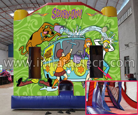 Scooby doo bounce combo with slide