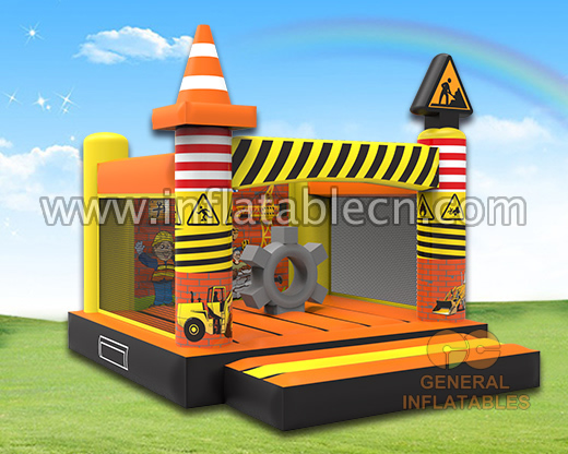 Construction site bounce house