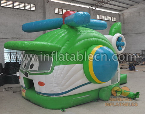 Helicopter bounce house with slide