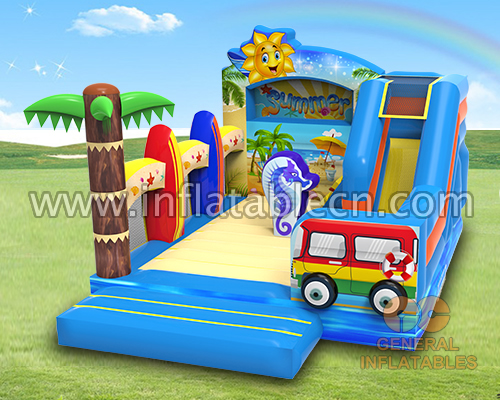 Beach party bounce house combo