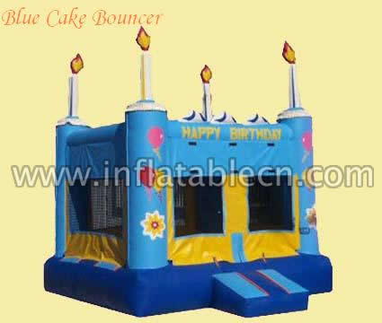 Blue cake bouncer