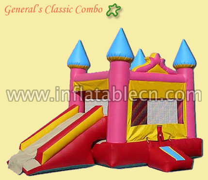 Pink castle combo bouncer