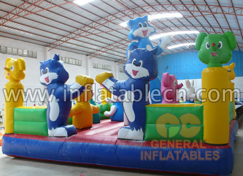Inflatable Blue Cat Funland