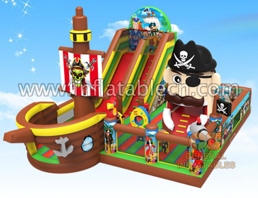 Pirate playground with moving mouth