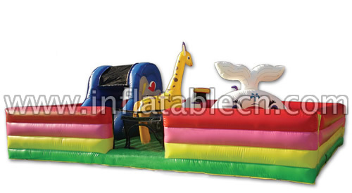 Happy Zoo Inflatable Funland - Animal Land