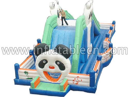 Inflatable Giant Panda Slide Funland