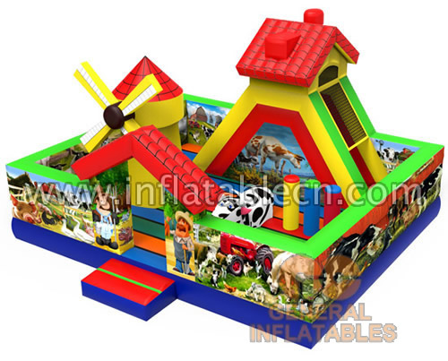 Inflatable farm funland