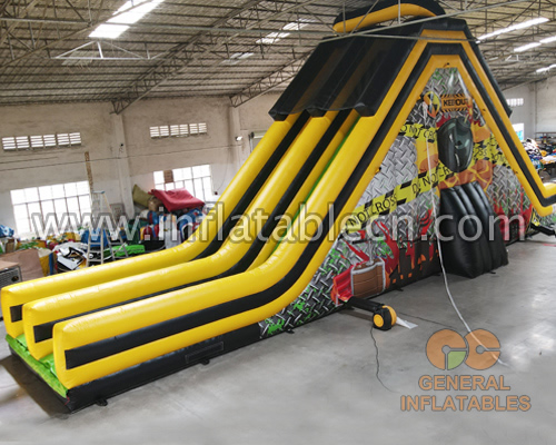 Adult toxic dual lane dry slide