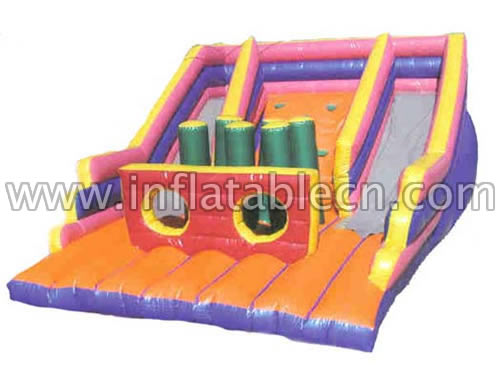 Inflatable slide and combos