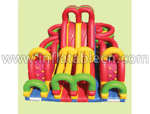 Inflatable bounce red slide on sale
