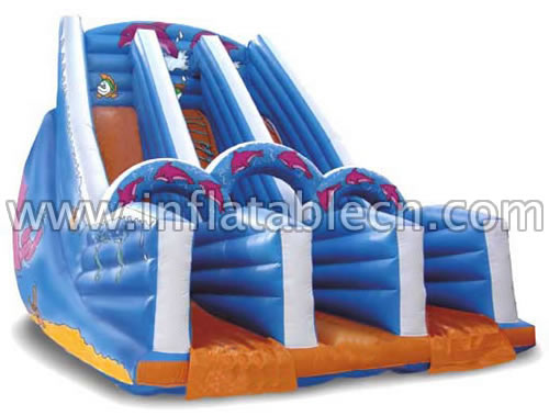 Inflatable bouncy slides on sale