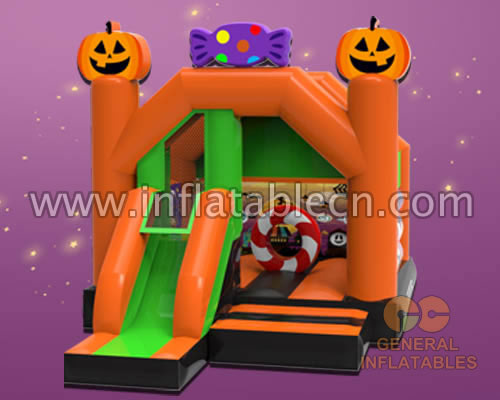 Halloween bounce house with slide