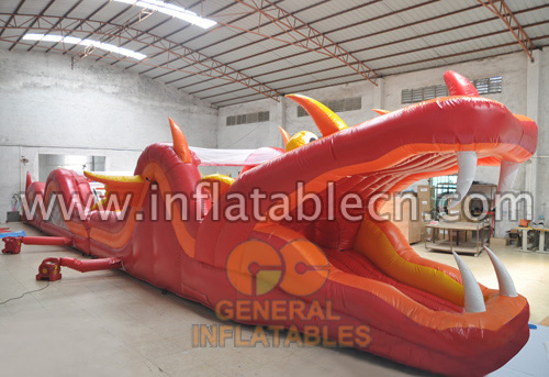 Inflatable fire dragon obstacle