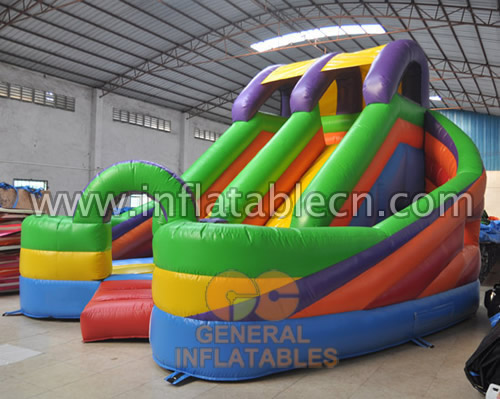 Inflatable combo obstacles