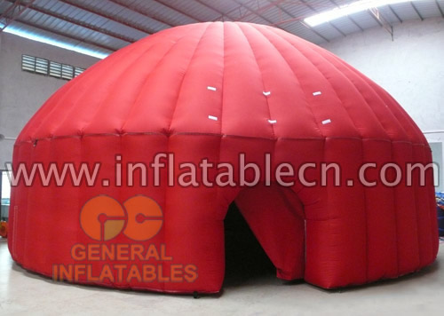 Inflatable Red Dome Tent