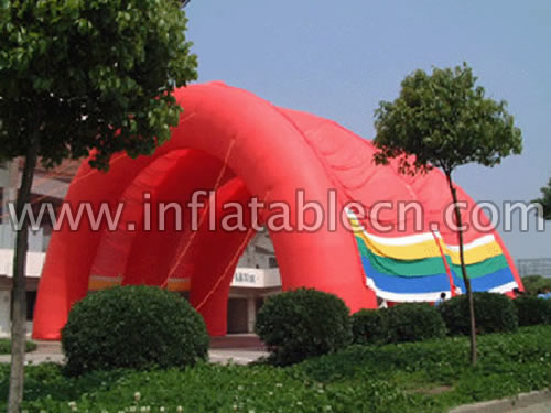 Inflatable Red Tunnel Tent