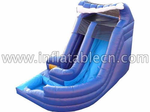 Ocean Wave Twist Slide & GIANT CURVY WATER SLIDE