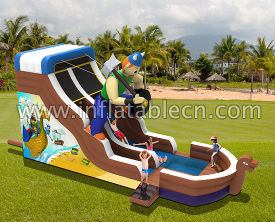Pirate water slide inflatable