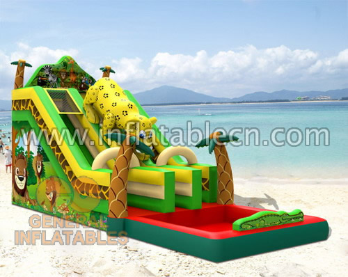 Jungle dual water slide