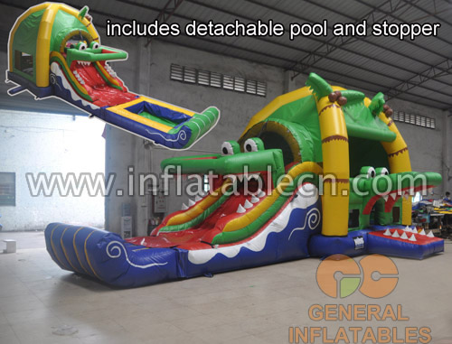 Crocodile combo with detachable pool