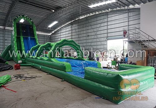 inflatable jungle water slide