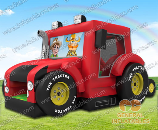 Tractor bounce house combo