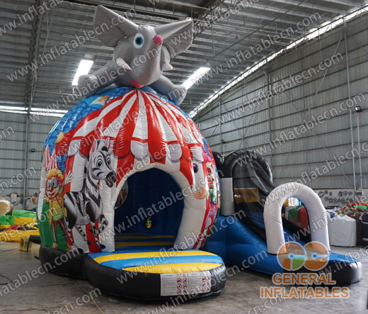 Circus disco dome with slide
