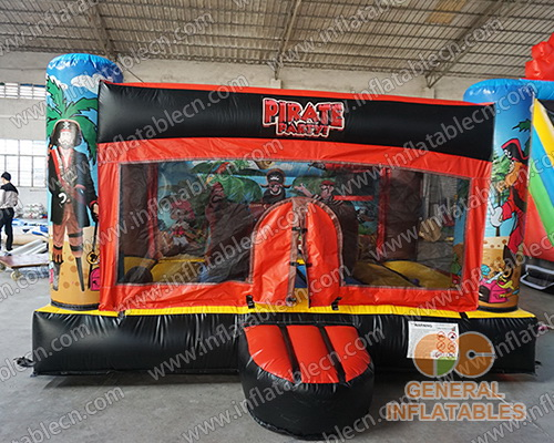 Indoor pirate bounce house
