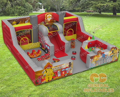 Firestation indoor playland with softplay and ball pond