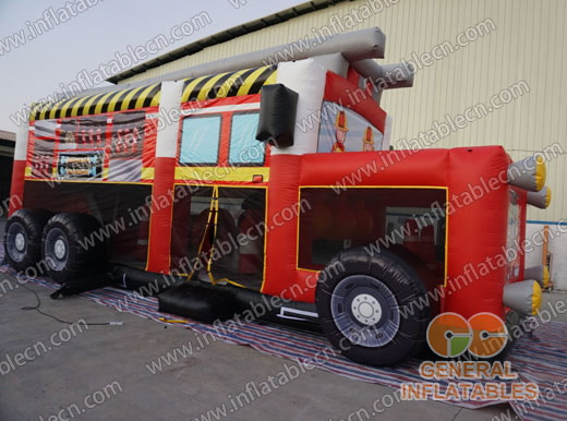 Firetruck obstacle course