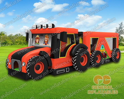 Tractor truck obstacle course