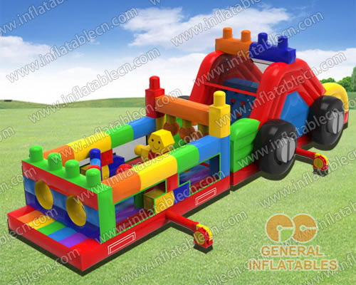 Building blocks obstacle course
