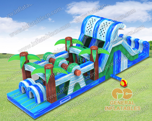 Waterfall obstacle course
