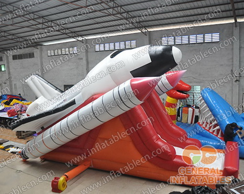 Space shuttle inflatable slide
