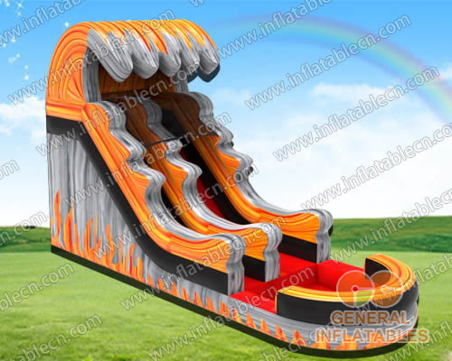 Inflatable fire water slide