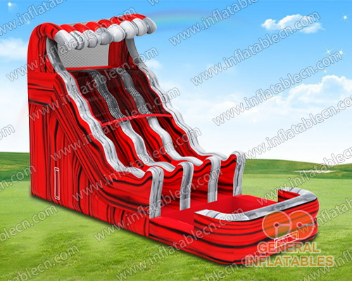 Red wave water slide