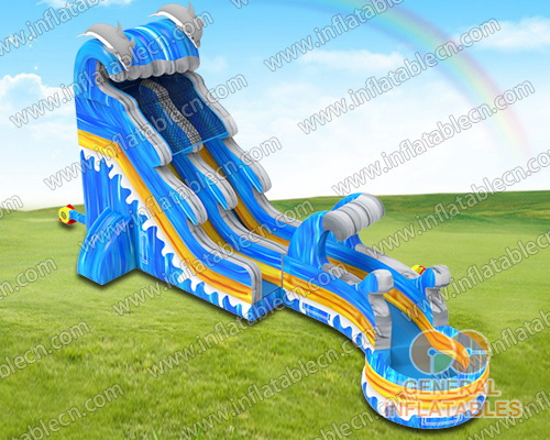 Dolphin wave water slide n slip
