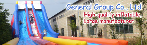 Inflatable water slides for sale banner